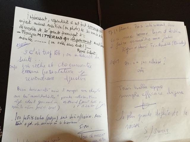 The guestbook at the exhibit (John Raimo)