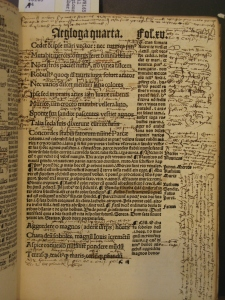 "Annotations between the lines and in the margins of Virgil's Eclogues. This book will be displayed at the New York Society Library's upcoming exhibition, ""Readers Make Their Mark,"" Feb. 5 - Aug. 15."