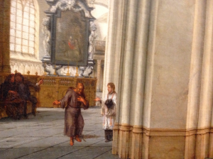 "Detail, Nickelen's ""Interior of the Bavo Kerk."" (Fitzwilliam Museum). Photo by author."
