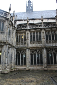 The restored St. Stephen's Cloisters, looking west to Westminster Hall, also part of Richard's repair work at the Palace.