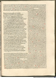 From Terence, Comoedia: mit Kommentar von Aelius Donatus und Johannes Calphurnius (for 'Heauton Timorumenos'; printed Venice: Reynaldus de Nimwegen, 1482).