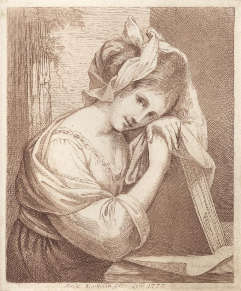 Angelica Kauffman (1741-1807), Self-portrait, 1770. Later state from the collections of the Royal Academy of London.