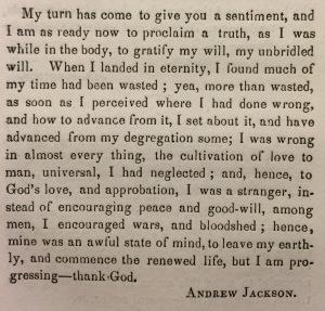 Andrew Jackson's apology © British Library