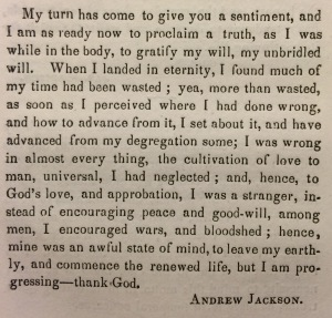Andrew Jackson's apology © British Library