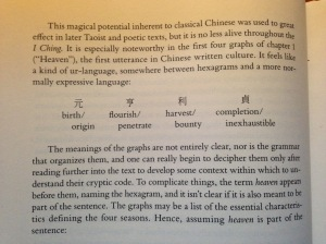Hinton, David. I Ching: The Book of Change. New York: Farrar, Strauss, and Giroux, 2015, xvi.