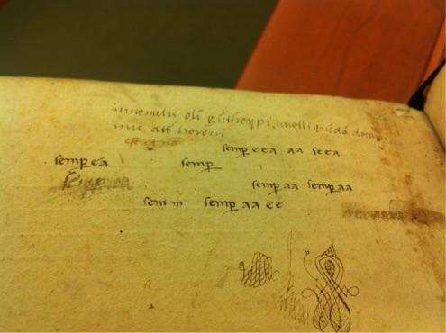 EL 34 B 6 f. 100v with the sixteenth century ownership inscription.