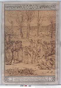 Puvis de Chavannes, Scene from the Life of Saint Genevieve, patroness of Paris - Printed for the Union for Moral Action, 1898 (BnF)