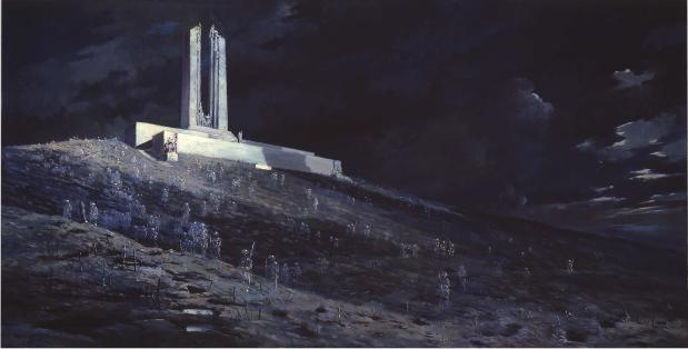 ?The Ghosts of Vimy Ridge? from Au stralian artist William Longstaff (1929) depicting Canadian soldiers' ghosts marching up Vimy Ridge.jpg