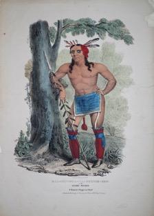 James Otto Lewis's rendering of American Indian Kaa Nun Der in 1835-6