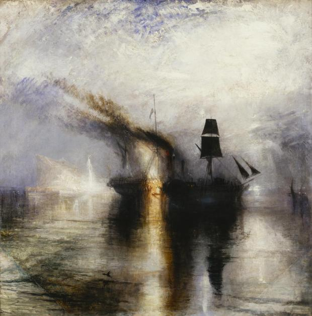 Peace - Burial at Sea exhibited 1842 by Joseph Mallord William Turner 1775-1851