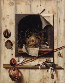 [13] cornelis gijsbrechts, trompe l_oeil with studio wall and vanitas still life (1668). statens museum for kunst, copenhagen. [page 5]