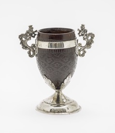 [7] coconut-shell cup, called coco chocolatero (17th-18th century). gift of ronald a. belkin, long beach, california, in memory of charles b. tate. los angeles county mus